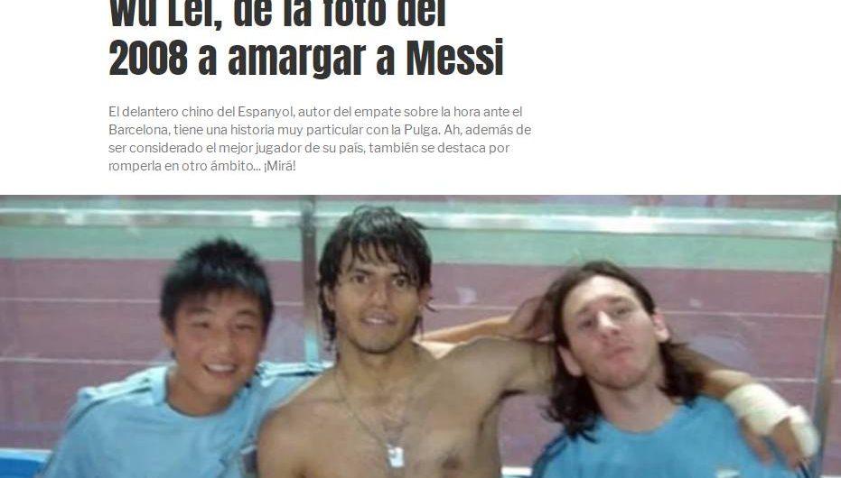 Medios argentinos: hace 12 años se tomó una foto con Messi, 12 años después dejó que Messi sufriera(camisetas de futbol Espanyol replicas 2019 2020)