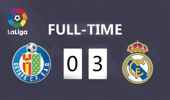La victoria por 3-0 del Real Madrid sobre Getafe se eleva temporalmente a la cima(camisetas de futbol Real Madrid replicas 2019 2020)